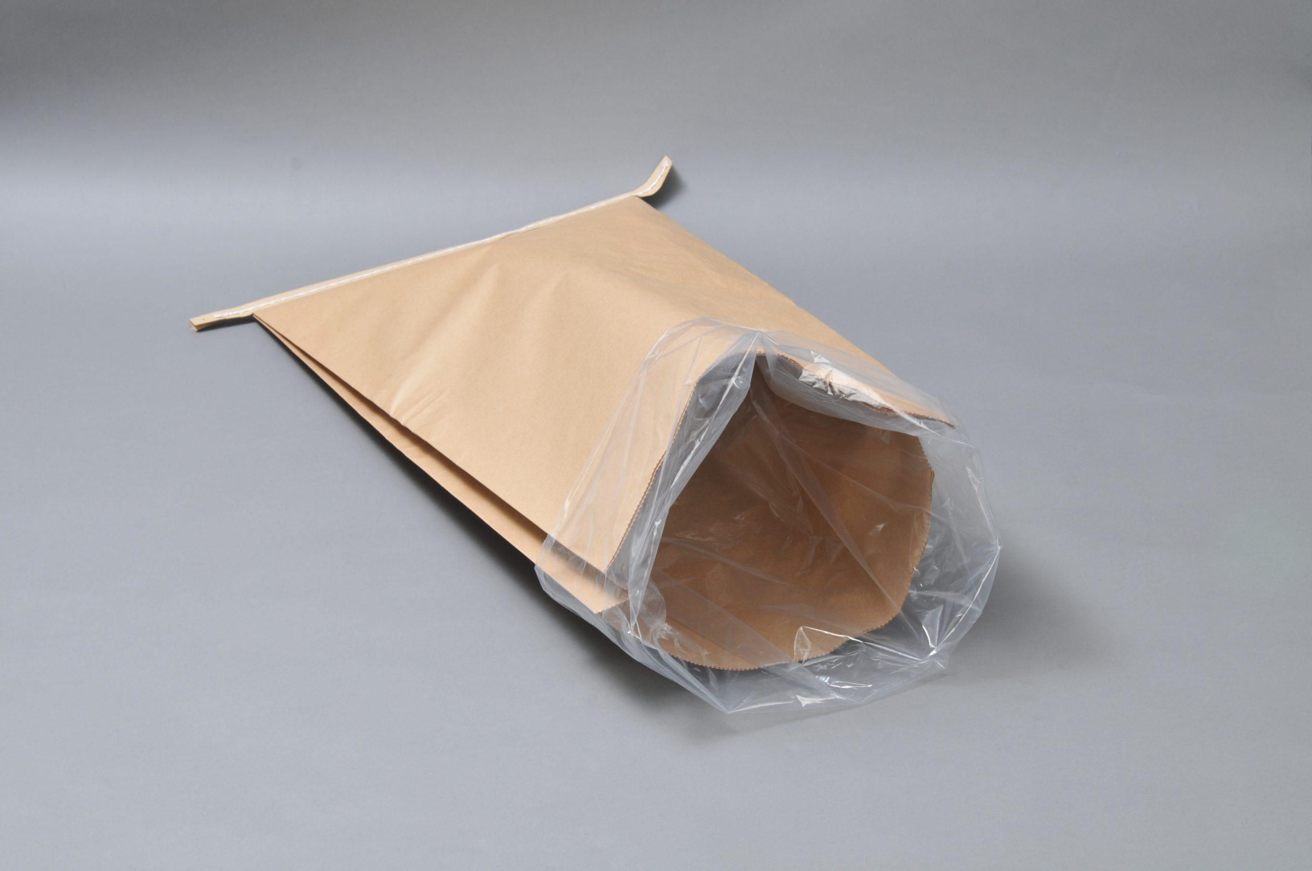 クラフト紙とチューブを同時製袋加工出来る長尺原反が欲しい。